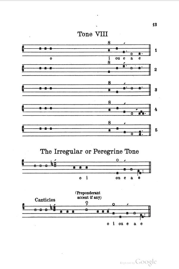 chantblog: The Sarum Psalm Tones in Square Notes
