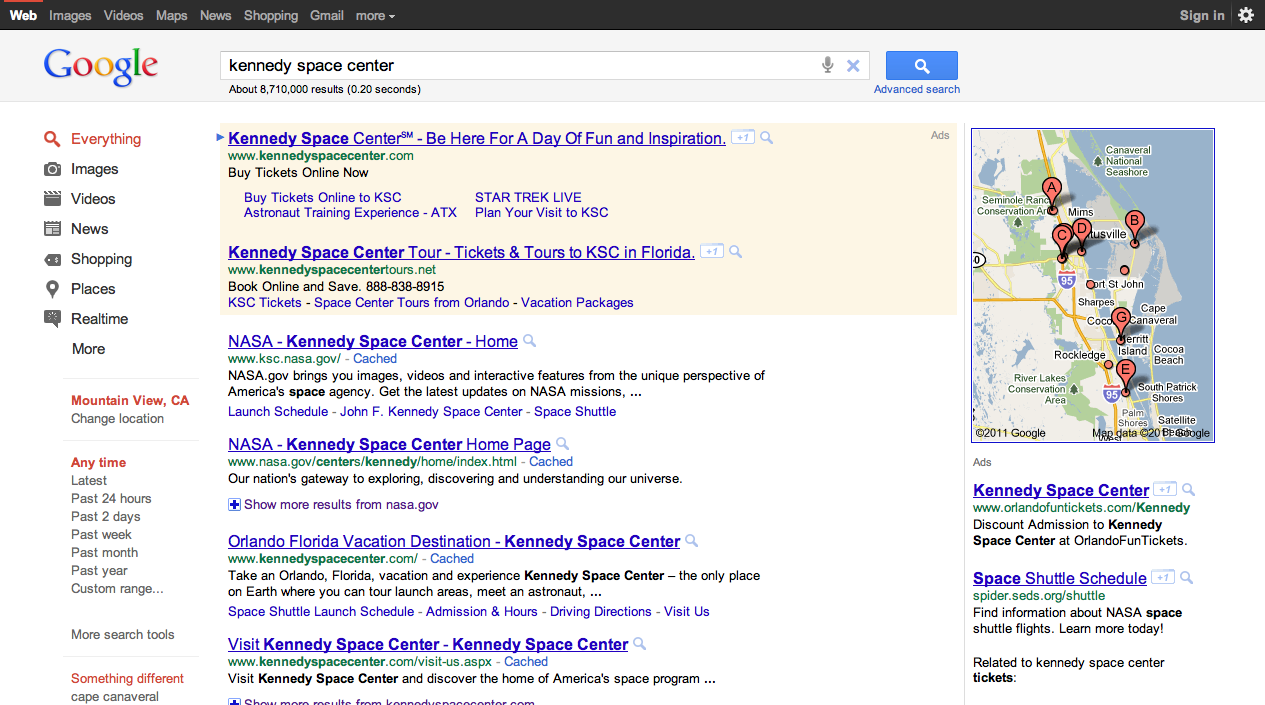 A few other design changes to help you focus finding what you're searching for include: