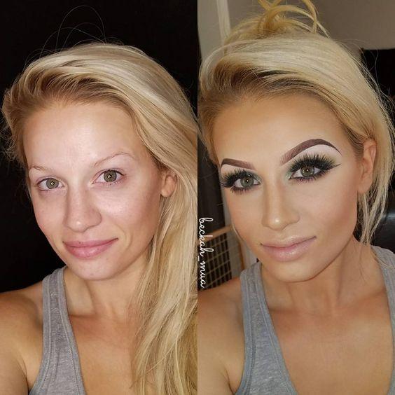 maquiagem transformação