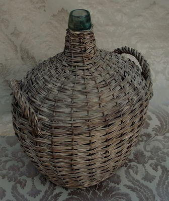 A Perfect Gray Wicker Wrapped Bottles