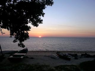 Matahari terbenam di pulau Labuan