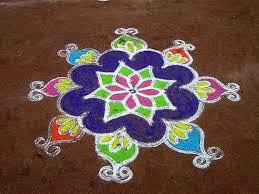 Simple Rangoli Flower Designs