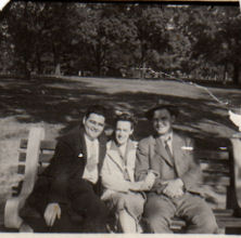 Ira-Babe-Marty at Pennington Park, Totowa, NJ. 1942