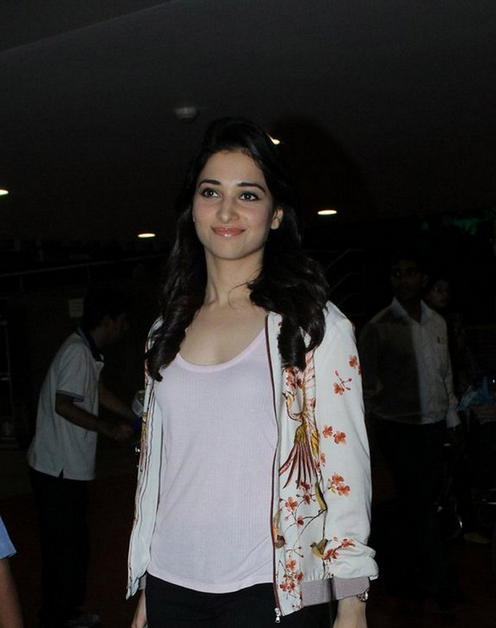 Actress Tamannaah Smiling Face Images In White Shirt