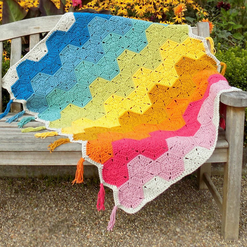 Harmonious Hexagons Quilt - Free Pattern