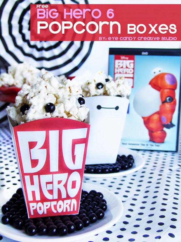 baymax, big hero 6, popcorn box freebie, big hero 6 popcorn box