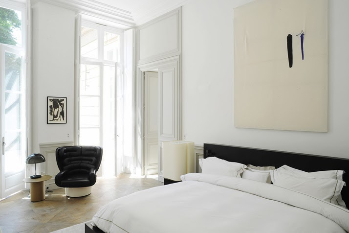 A Paris apartment designed by Joseph Dirand bedroom