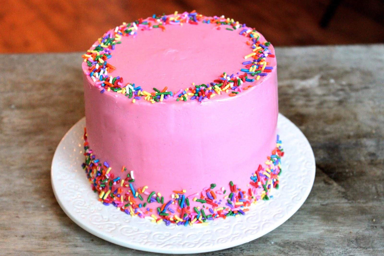 Sprinkles Vanilla Cake