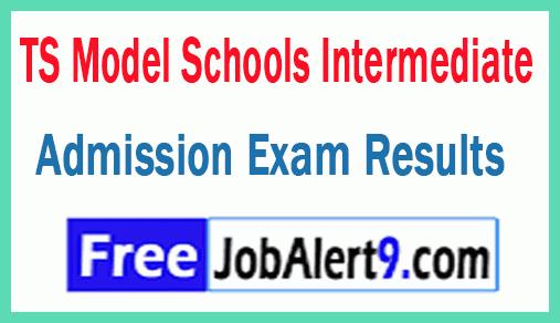Telangana TS Model Schools Intermediate Admission Exam Results