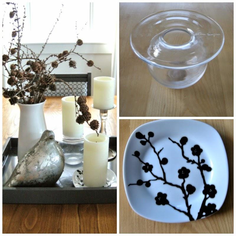 dining room vignette, Boblen vase, accessories,