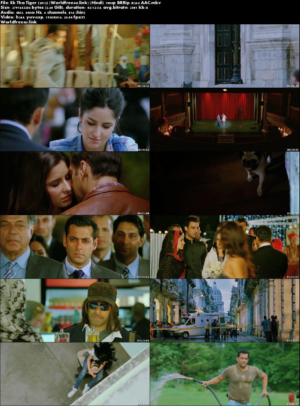Screen Shoot of Ek Tha Tiger 2012 Full Hindi Movie Download BRRip 1080p