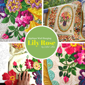 'Lily Rose' Applique Wall Hanging