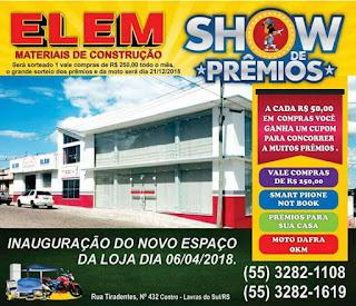 SERVIÇO: Novo espaço da loja Rui Elem Teixeira Materiais de Construção será inaugurado nesta sexta-feira (06/04)