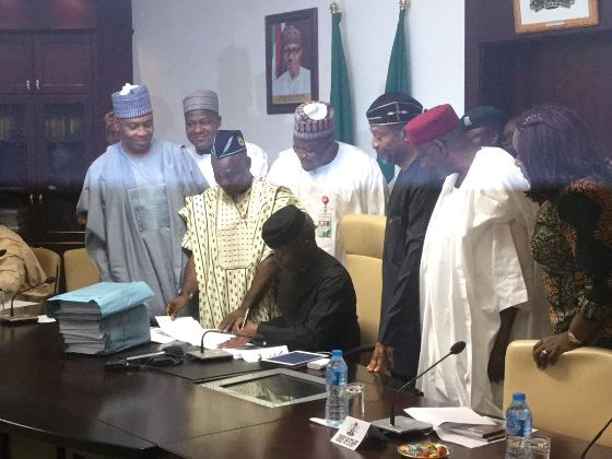 Finally Nigerias 2017 Budget Has Been Signed Into Law