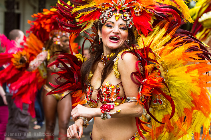woman in carnival costume