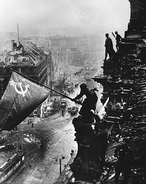 Flag Raising over the Reichstag