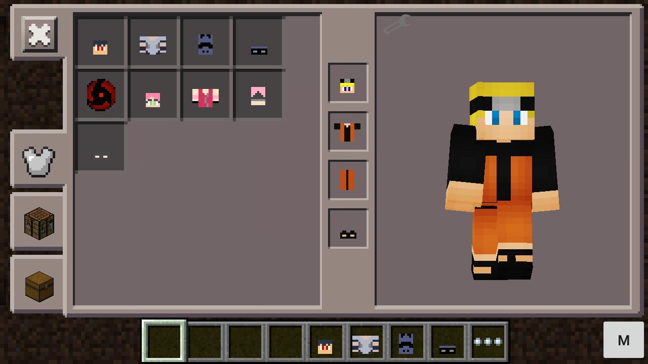 MOD Naruto V Mod Minecraft PE Pocket MCPE Gogomon - Baixar skins para minecraft pe naruto