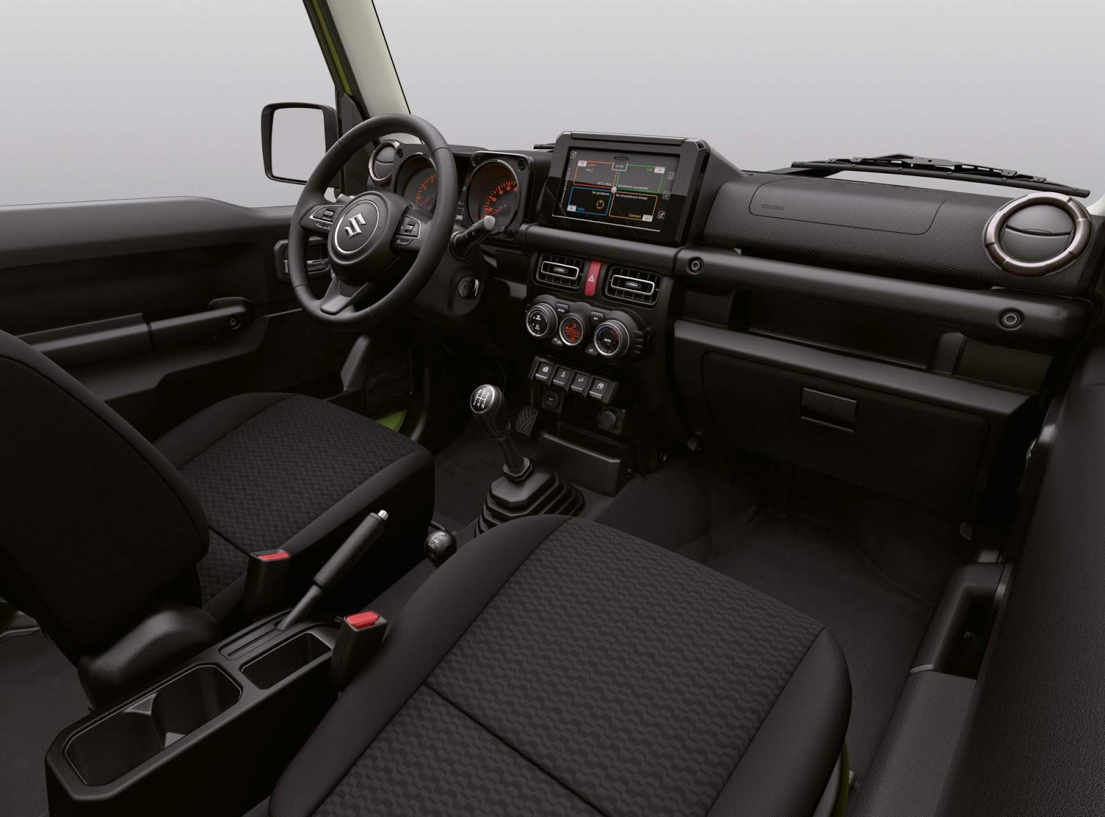 Интерьер Suzuki Jimny 2019