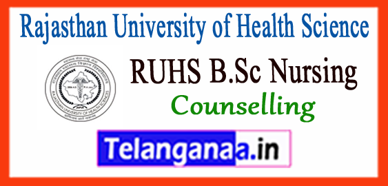 RUHS Rajasthan University of Health Science additionally B.Sc Nursing Results 2017-18 Counselling