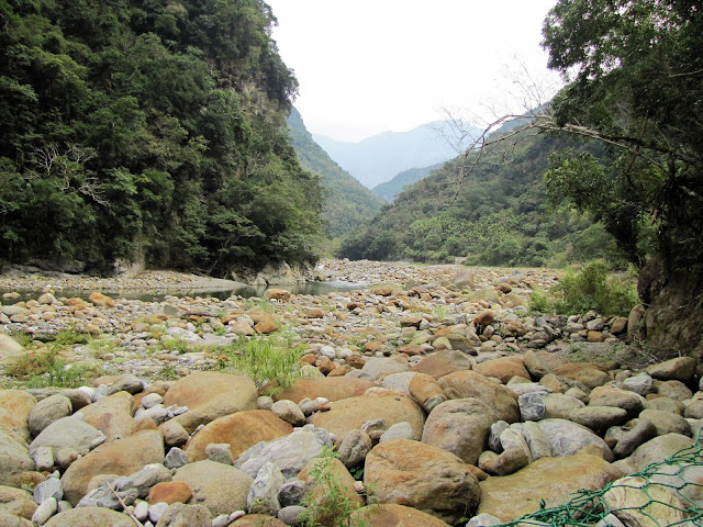 rocky riverbed taroko gorge taiwan