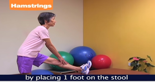 Stretching Hamstring exercise