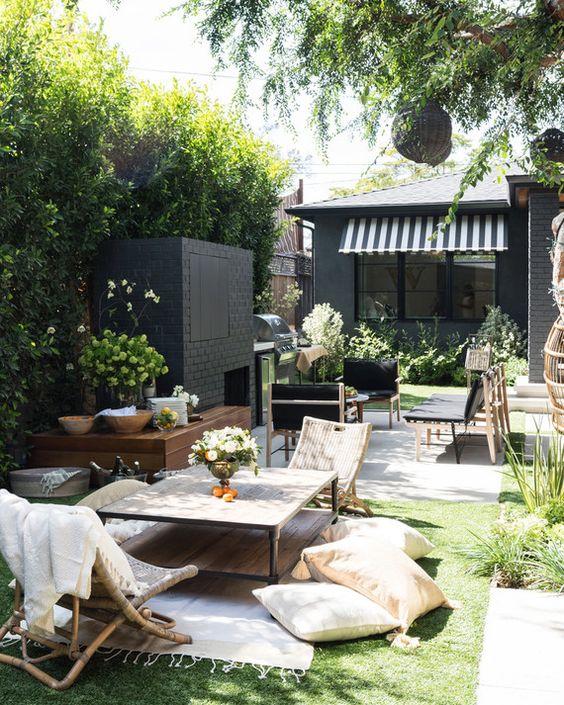 modern living and garden