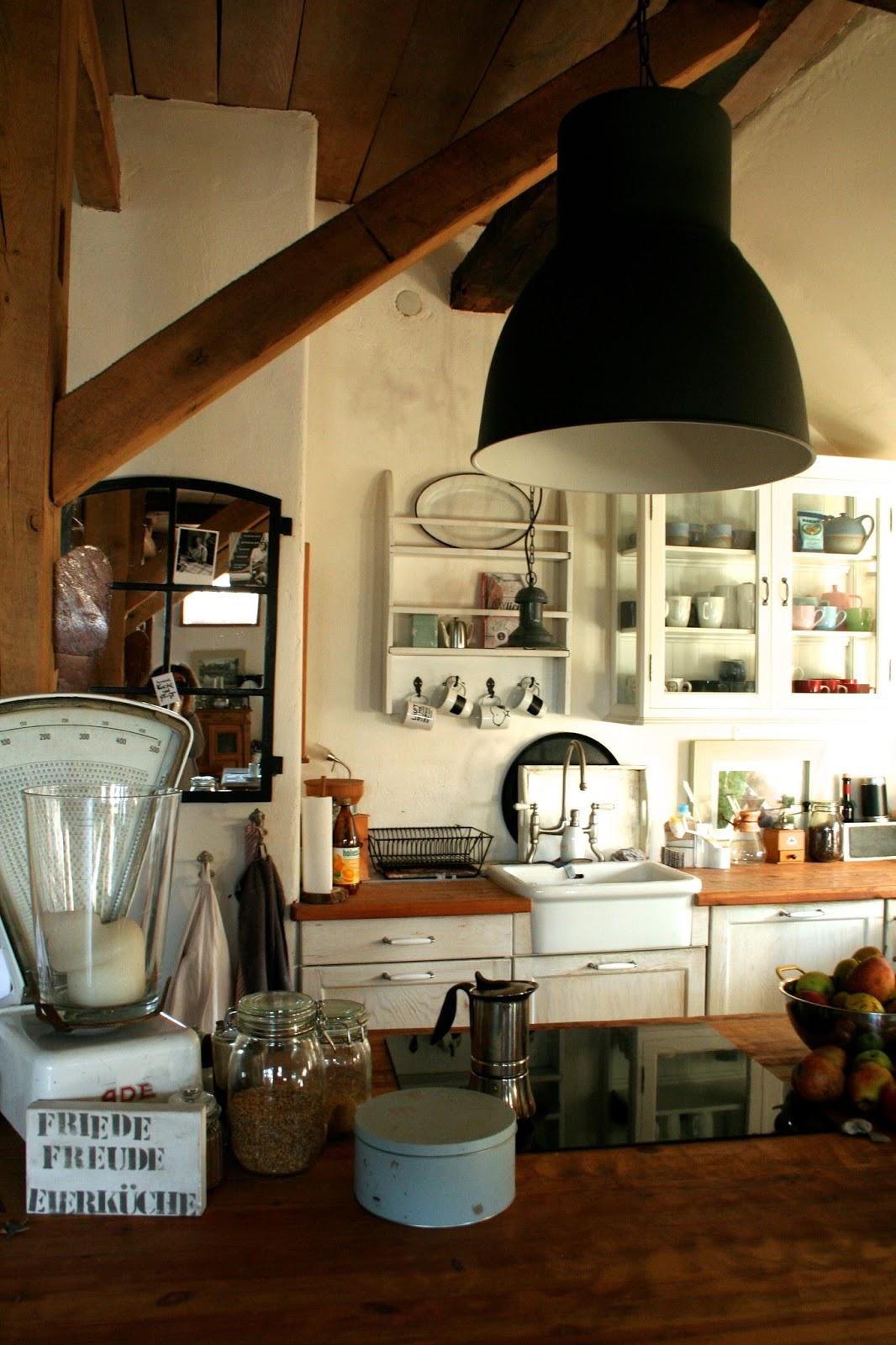 reetselig meine offene k che in unserer alten reetdachkate. Black Bedroom Furniture Sets. Home Design Ideas