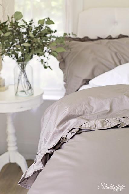ruffled bedding