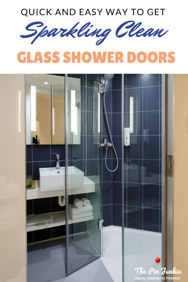 How to clean glass shower doors the easy way quick and easy way to clean glass shower doors cleans hard water and scum build planetlyrics Images