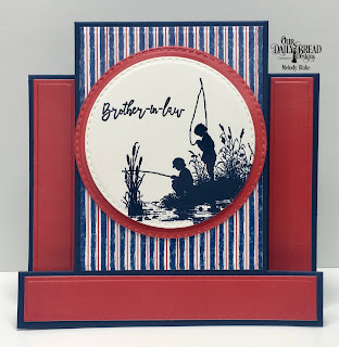 Our Daily Bread Designs Stamp Set: Brother In Christ, Custom Dies: Center Step Card, Center Step Layers, Double Stitched Circles, Paper Collections: Nautical Collection, Old Glory