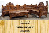Jual Furniture Kursi Tamu Sudut Ukir Mahkota Jepara