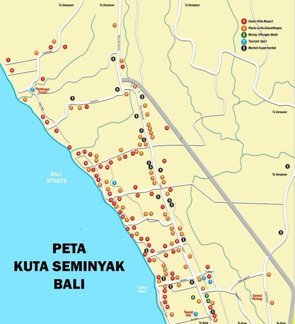 Peta Kuta Seminyak Bali
