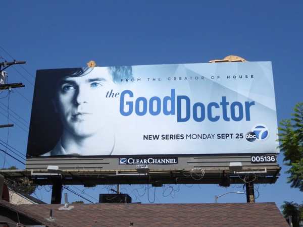 Good Doctor series launch billboard