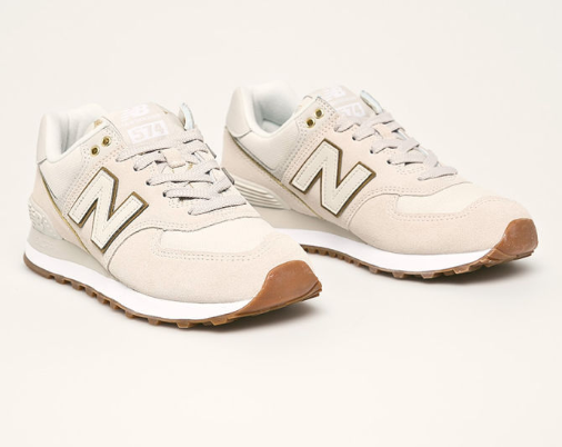 New Balance - Pantofi sport femei piele naturala originali bej ieftini