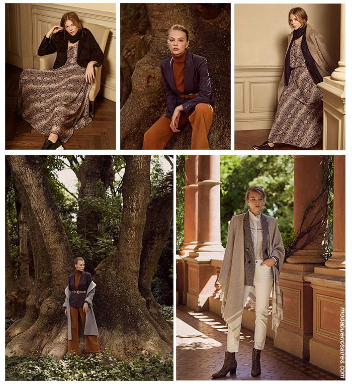 Looks tendencia invierno 2019 casual chic. Abrigos, sacos, tapados, pantalones, blusas y vestidos invierno 2019.