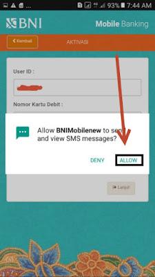 cara daftar BNI mobile banking android