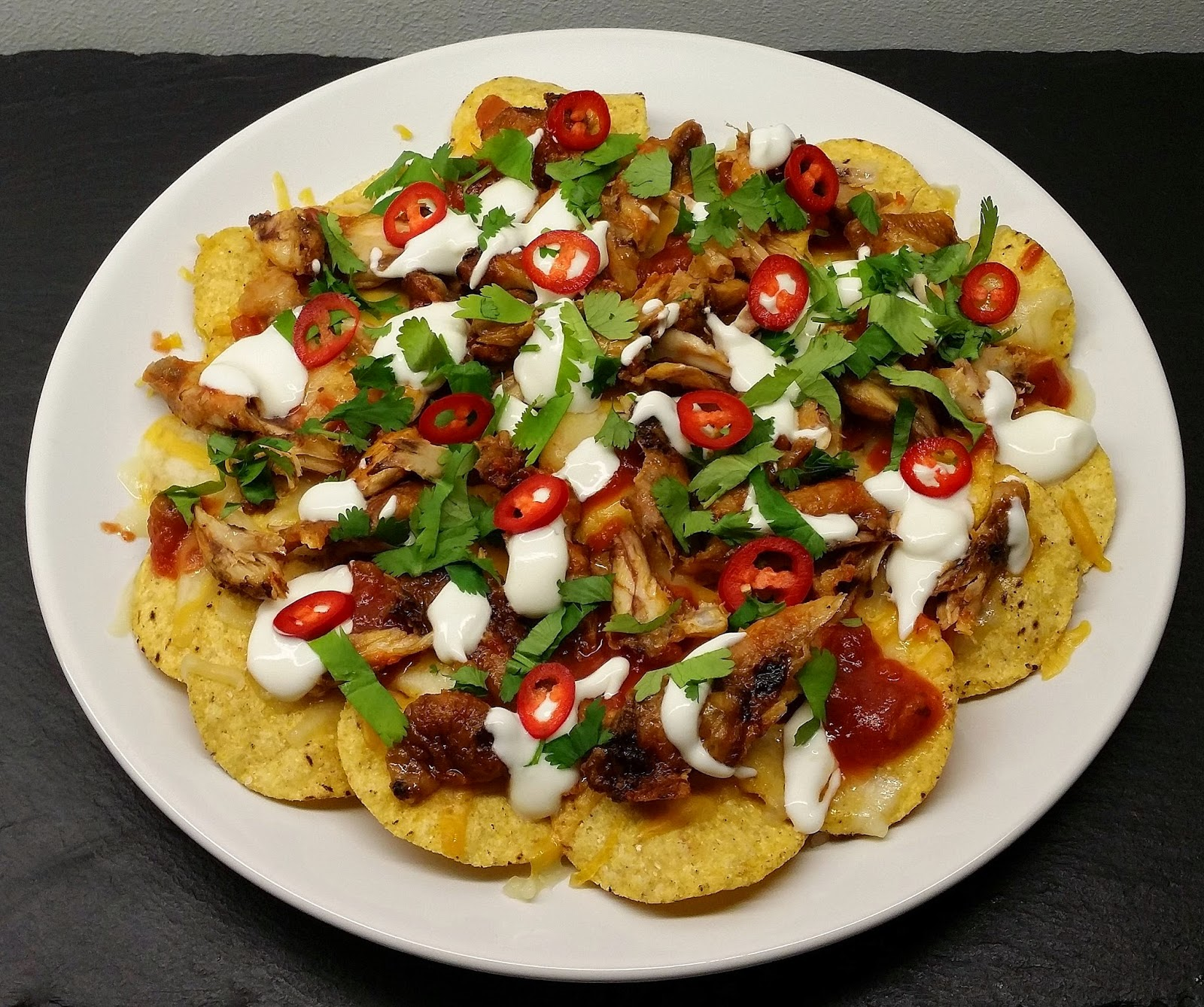 nachos med kylling opskrift