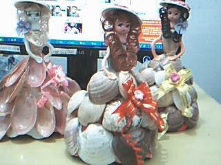 Artesanato feito com conchas do mar