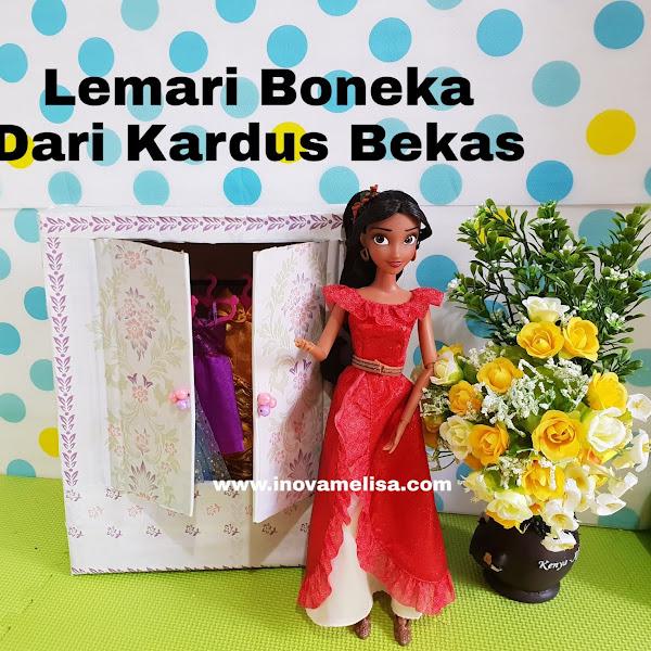 Cara Membuat Lemari Boneka Barbie dari Kardus Bekas