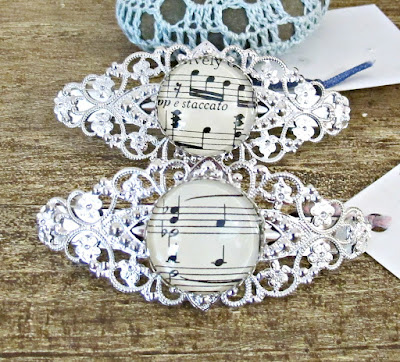 image hair clip barrette accessories music musician two cheeky monkey filigree