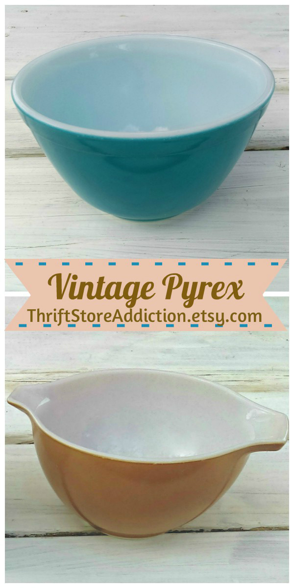 vintage Pyrex available at thriftstoreaddiction.etsy.com