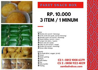 harga Grosir snack box sekitar Bintaro Tangerang Selatan murah