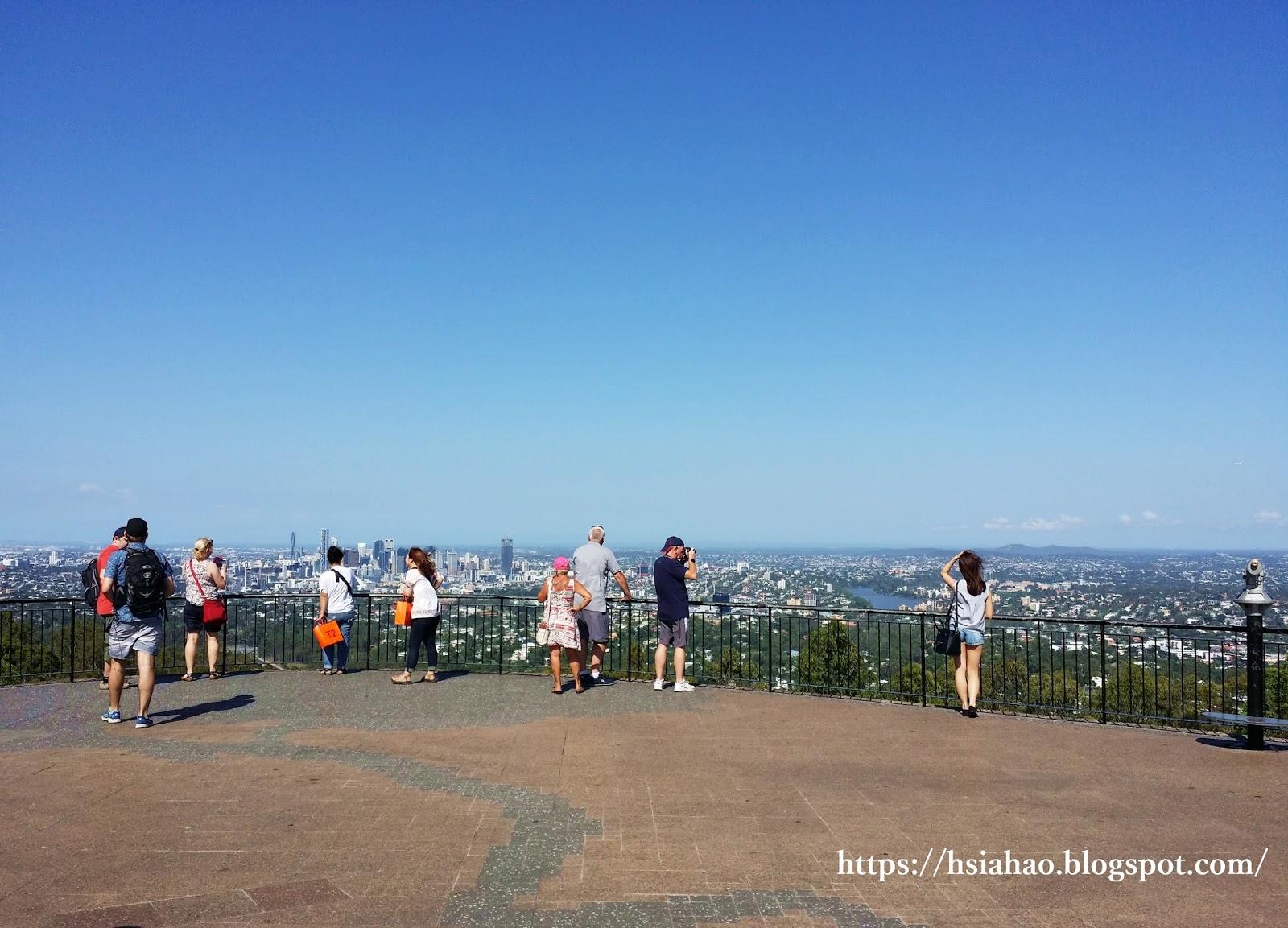 布里斯本-景點-庫薩山-市區-遊記-庫薩山觀景台-行程-Mt. Coot-Tha-Summit-Lookout-Brisbane