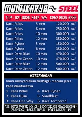 gambar daftar harga kusen aluminium dan kaca bandung murah