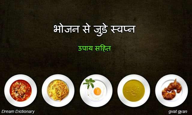 Food related dreams interpretation in hindi