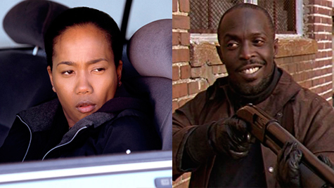 Kima Greggs y Omar Little