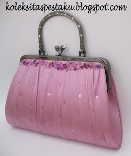 Tas Pesta Behel Dusty Pink Cantik Murah