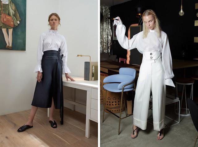Девушки в белых современных блузках