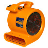 Max Storm Orange 2550 CFM Durable Lightweight Carpet Drying Fan Blower Air Mover Draw Low Amps Move Large Volumes of Air for Pro Janitorial or Carpet Cleaning Business ...