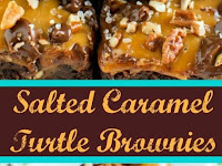 SALTED CARAMEL TURTLE BROWNIES